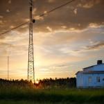 Soluppgång Radiomast